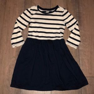 GAP Kids Girls Navy Striped Long Sleeve Dress